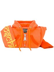 Moschino Hoodie Shoulder Bag Yellow Orange