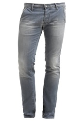 Gas Jeans Gas New Albert Slim Fit Jeans Light Grey