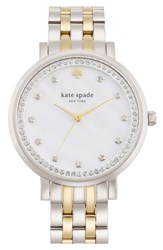 Kate Spade Women's New York 'Monterey' Crystal Dial Bracelet Watch 38Mm