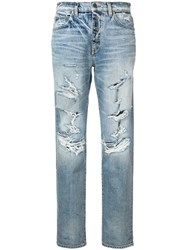 Amiri Distressed Effect Jeans Blue