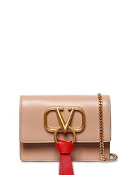Valentino Garavani Vring Ribbon Leather Shoulder Bag Rose Cannelle