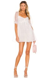 For Love And Lemons X Revolve Cinched Babydoll Dress In White.