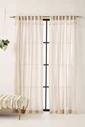 Anthropologie Tasseled Ginny Curtain Light Grey