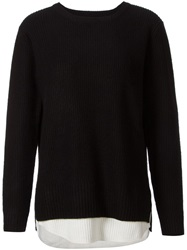 Unif Two Tone Ribbed Sweater Black