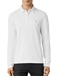 Allsaints Brace Long Sleeve Polo Shirt Optic White