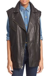 Women's Current Elliott 'The Moto Infantry' Lambskin Leather Vest