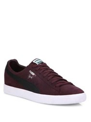 Puma Clyde B And C Suede Sneakers Red