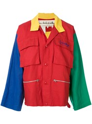 Jc De Castelbajac Vintage Colour Block Utility Jacket Multicolour