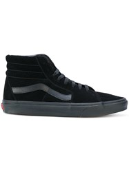 Vans Hi Top Lace Up Sneakers Cotton Leather Suede Rubber 7.5 Black