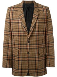 Ami Alexandre Mattiussi Two Button Long Jacket Polyamide Viscose Wool Other Fibres Brown