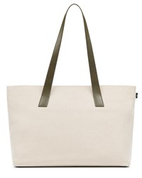Jaeger Leather Canvas Tote White