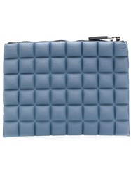 No Ka' Oi Chocolate Bar Quilted Purse Blue