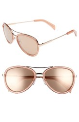 Draper James Women's 58Mm Aviator Sunglasses Shiny Rose Gold