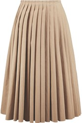 Acne Studios Kensington Pleated Faux Suede Midi Skirt Nude