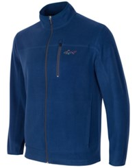 Greg Norman For Tasso Elba Men's Big And Tall 5 Iron Fleece Jacket Only At Macy's Blue Socket