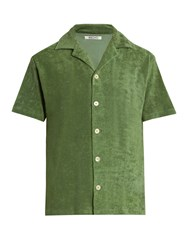 Hecho Short Sleeved French Terry Towelling Shirt Green