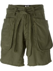 Nlst Belted Cargo Shorts Green