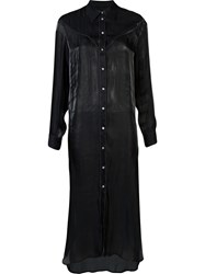 Maison Martin Margiela Mm6 Maxi Shirt Dress Black