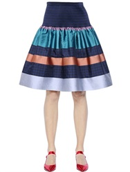 Tsumori Chisato Striped Techno Jacquard Skirt