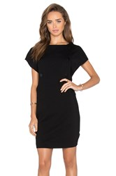 Love Moschino Short Sleeve Button Up Shift Dress Black