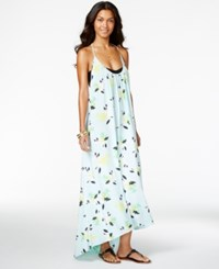 Vince Camuto Maxi Dress Printed Cover Up Women's Swimsuit Aqua