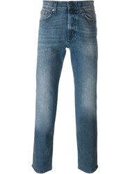 7 For All Mankind Stonewashed Jeans Blue