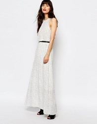 Just Female Birch Maxi Dress In Print White Black