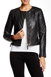 French Connection Speedway Leather Biker Jacket Black