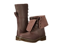 Dr. Martens Hazil Tall Slouch Boot Dark Brown Virginia Darkend Suede Women's Lace Up Boots