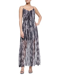 Andrew Marc New York Andrew Marc Painted Wave Silk Maxi Dress