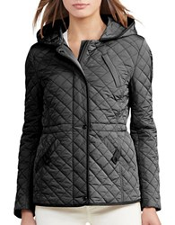 Lauren Ralph Lauren Quilted Hooded Coat Black