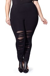 Mblm By Tess Holliday Plus Size Women's Cutout Leggings