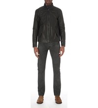 Ralph Lauren Barracuda Leather Jacket Black