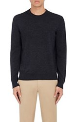 Piattelli Men's Merino Wool Crewneck Sweater Dark Grey