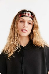 Urban Outfitters Plaid Wide Headwrap Red
