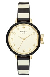 Kate Spade Women's New York Park Row Silicone Strap Watch 34Mm Black Gold Black