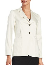 Jil Sander Stretch Cotton Blazer Ivory