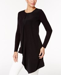 Alfani Draped Asymmetrical Tunic Top Only At Macy's Deep Black
