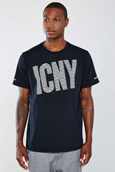 Icny Wave Logo Tee Black