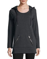 Marc New York Hooded Fleece Lined Tunic Charcoal