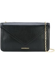 Emporio Armani Chain Strap Shoulder Bag Black
