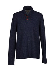 Suit Knitwear Jumpers Men Slate Blue