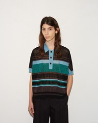 Kolor Stripe Polo Black