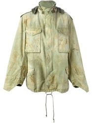 R 13 R13 Oversized Hooded Jacket Green