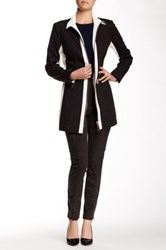 Insight Faux Leather Contrast Ponte Jacket Black