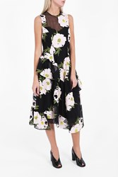 Simone Rocha Women S Sleeveless Embroidered Peony Dress Boutique1 Black Pink