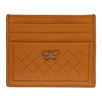 Bottega Veneta Brown Intrecciato Butterfly Card Holder
