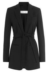 Max Mara Stretch Wool Belted Blazer Black