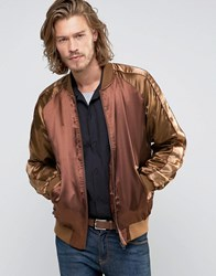 Asos Souvenir Jacket With Phoenix Embroidery Brown