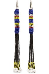 Isabel Marant Tassled Beaded Earrings Blue